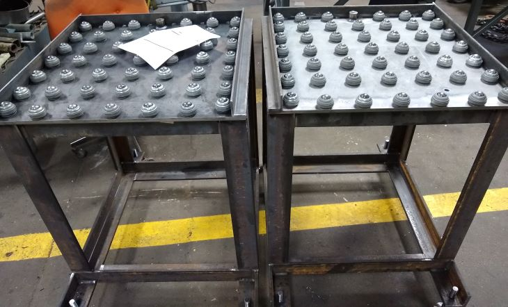 custom fabricated fixture table